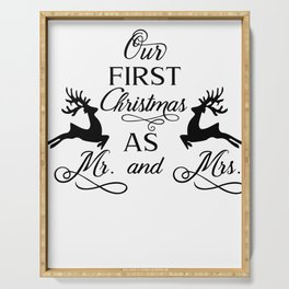 Wedding First Christmas Man & Woman Gift Serving Tray