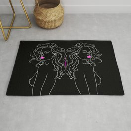 The Twins in Black Rug