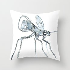 Mosquito, Watercolor Throw Pillow