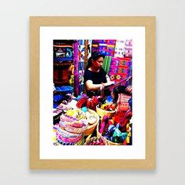 Guatemalan Shops Framed Art Print