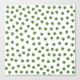 Light Green Clover Canvas Print