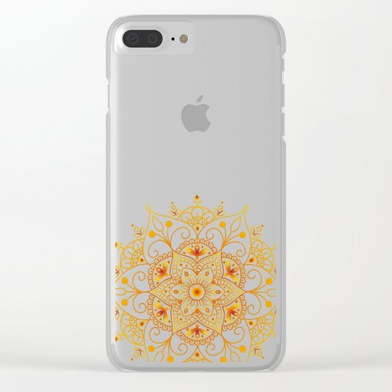 Mandala_Passion Clear iPhone Case