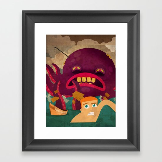 giant octopus Framed Art Print