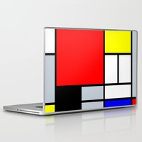 mondrian Laptop & iPad Skins featuring Mondrian by Dizzy Moments