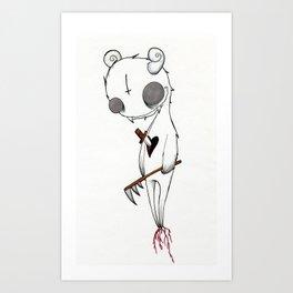 Stabbed Demon Art Print