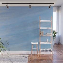 Wispy Blue Wall Mural