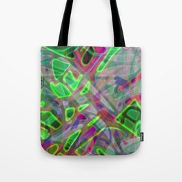 Colorful Abstract Stained Glass G300 Tote Bag