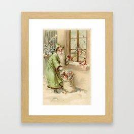 Santa Claus at the Window Framed Art Print