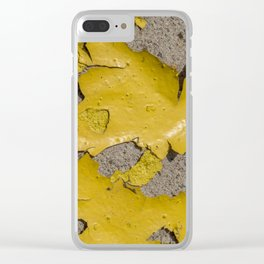 Yellow Peeling Paint on Concrete 3 Clear iPhone Case