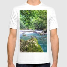 Grass Rock Mens Fitted Tee White MEDIUM
