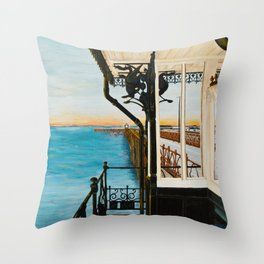Ryde Pier and Shelter Throw Pillow