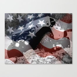 Red White and GP Canvas Print
