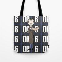 phil jones Tote Bags featuring Phil by Derek Eads