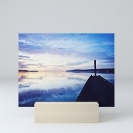 Dock at Dusk, Sequim Bay State Park Mini Art Print