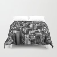 chicago Duvet Covers featuring Chicago by Claude Gariepy