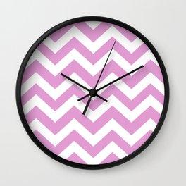 Orchid (Crayola) - violet color -  Zigzag Chevron Pattern Wall Clock