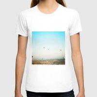 hot air balloon T-shirts featuring hot air balloon by valerie