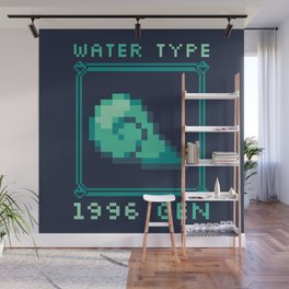 Water Type Wall Mural