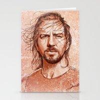 eddie vedder Stationery Cards featuring Eddie Vedder by Renato Cunha