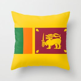 Sri Lanka country flag Throw Pillow