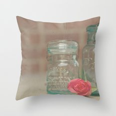 Vintage Ball Jars Throw Pillow