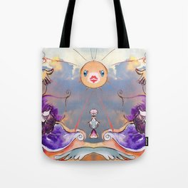 Inner Journey of Jester Buttons Tote Bag