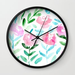 Floral vibes #7 || watercolor Wall Clock