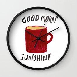 Coffee Is My Sunshine Wall Clock