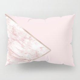 Blush pink geo - pink marble Pillow Sham