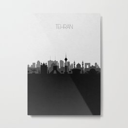 City Skylines: Tehran Metal Print