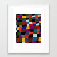 quilt Framed Art Prints featuring Quilt  by Tuuli Holman