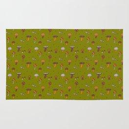 Mushrooms Green Rug