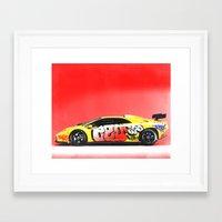 lamborghini Framed Art Prints featuring Lamborghini Diablo by Sushilove