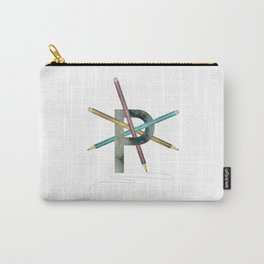P is for Pencil - Letter P Monogram Carry-All Pouch