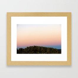 Joshua Tree Sunset 002 Framed Art Print