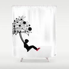 the Swingset Shower Curtain