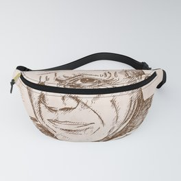 hand drawn portrait of picasso. illustration Fanny Pack