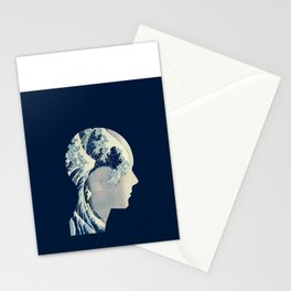 Hokusai Great Wave in My Head Stationery Cards