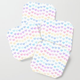 cute colorful hand drawn hearts pattern Coaster