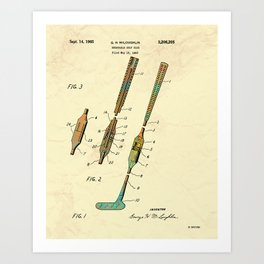 Folding Golf Club - 1965 Art Print