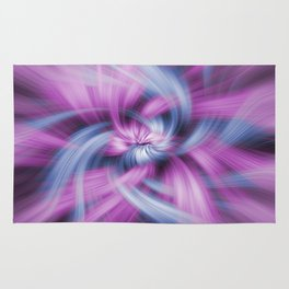 Purple and Blue Light Waves Rug