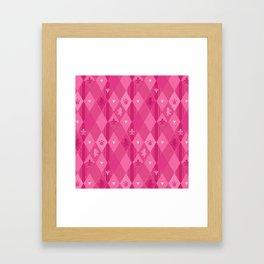 Pink Lily Bears Framed Art Print