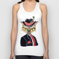 gangster Tank Tops featuring Gangster Kitty by J&C Creations