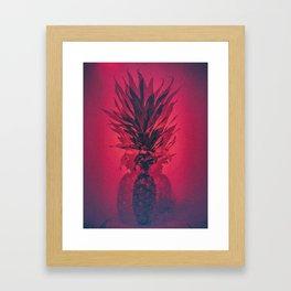 PINEAPPLE RED Framed Art Print