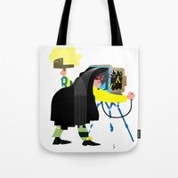 photographer Tote Bags featuring Photographer by Design4u Studio