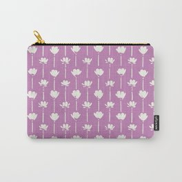 Morning Petals on Lilac Carry-All Pouch