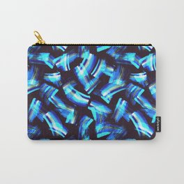 Acrilyc blue  brush strokes Carry-All Pouch