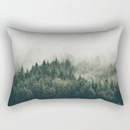 Foggy Mountain Side Rectangular Pillow