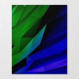 Geo Green and Blue Canvas Print