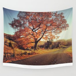 White Oak Road - Fall Wall Tapestry